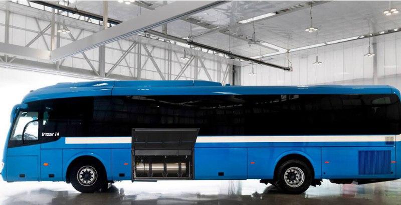 Новый междугородний автобус на СПГ от испанского производителя «Irizar».